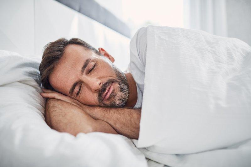 Man sleeping alone