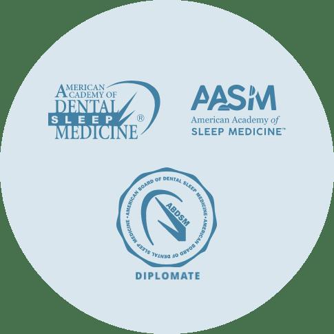 Diplomate, American Board of Dental Sleep Medicine • American Academy of Dental Sleep Medicine • American Academy of Sleep Medicine