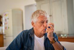 Senior man suffering from asthma and sleep apnea in Boca Raton