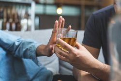Saying no to drink because of relationship between alcohol and sleep apnea