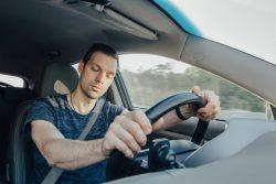 Man behind the wheel, drowsy driving in Vero Beach
