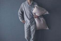 Man in pajamas, prepared for sleep test in Boca Raton